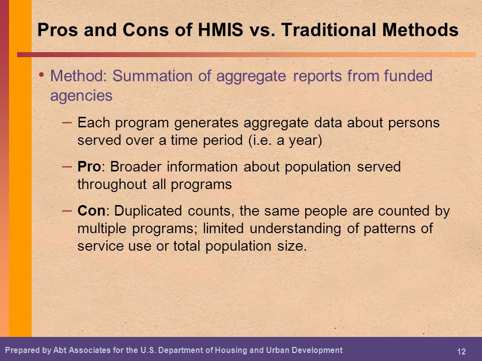 Pros and Cons of HMIS vs. Traditional Methods