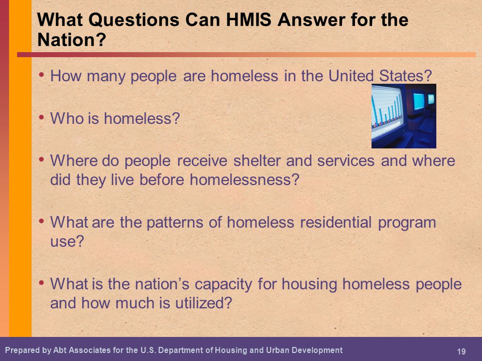 What Questions Can HMIS Answer for the Nation