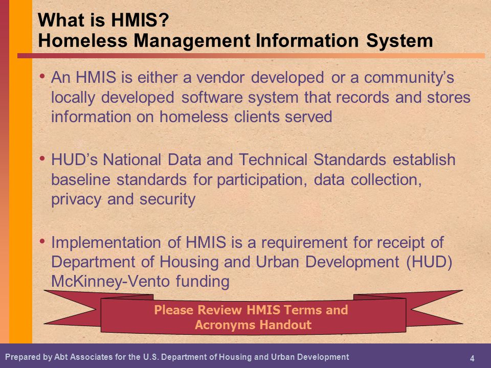 What is HMIS Homeless Management Information System