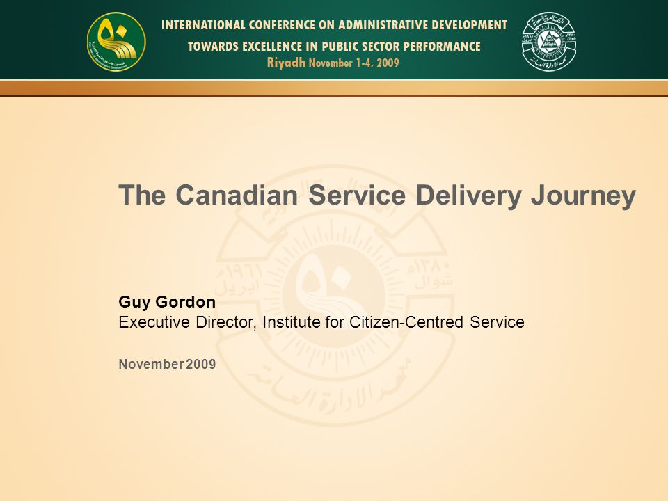 The Canadian Service Delivery Journey