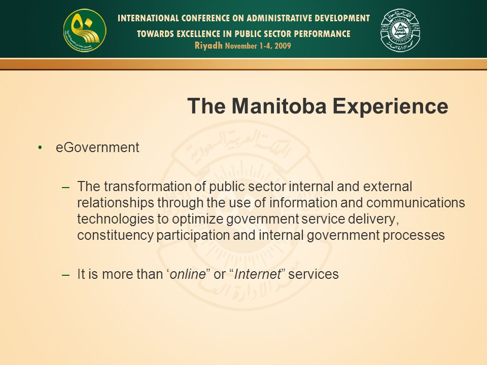 The Manitoba Experience