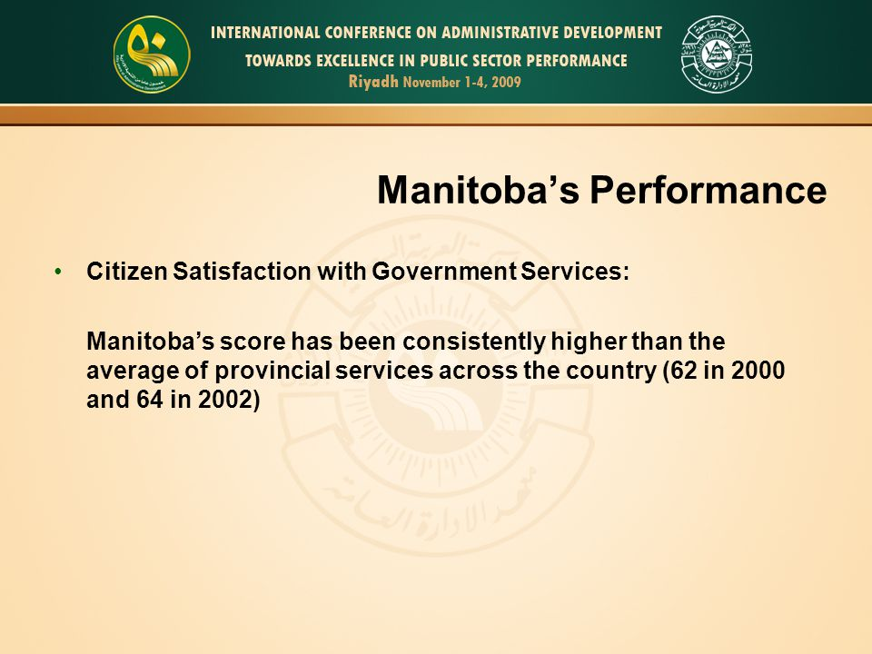 Manitoba's Performance