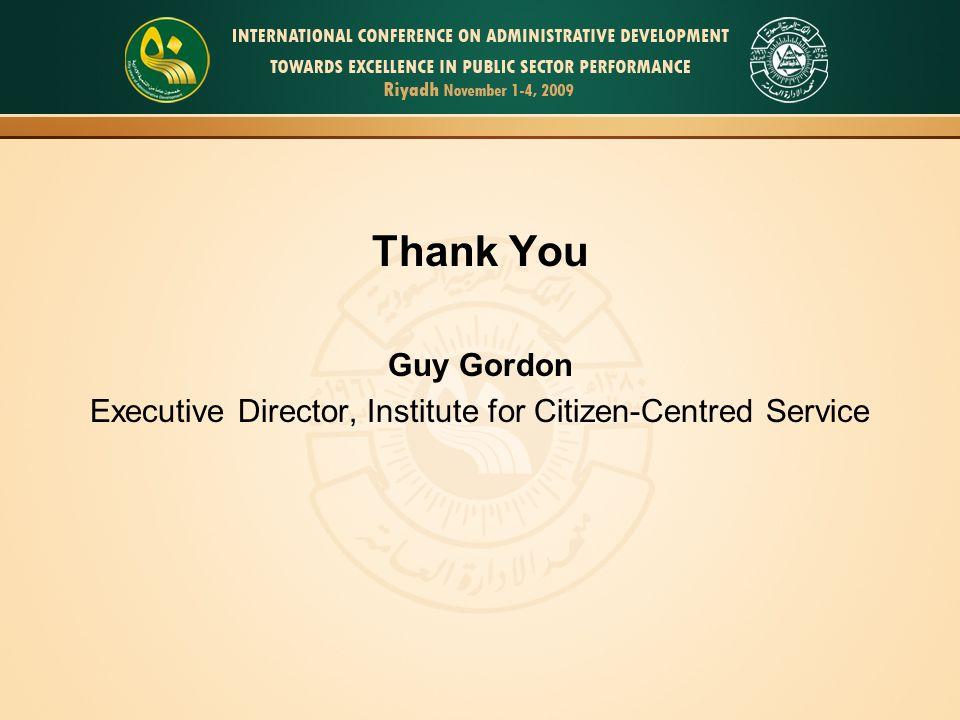 Executive Director, Institute for Citizen-Centred Service