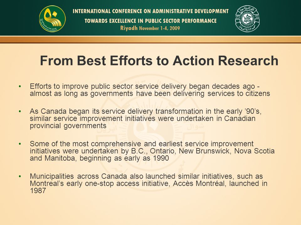 From Best Efforts to Action Research