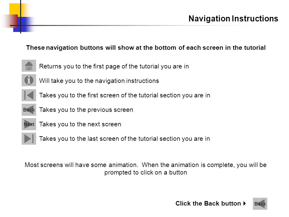 Navigation Instructions