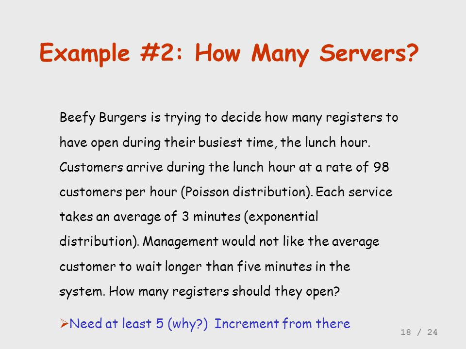 Example #2: How Many Servers