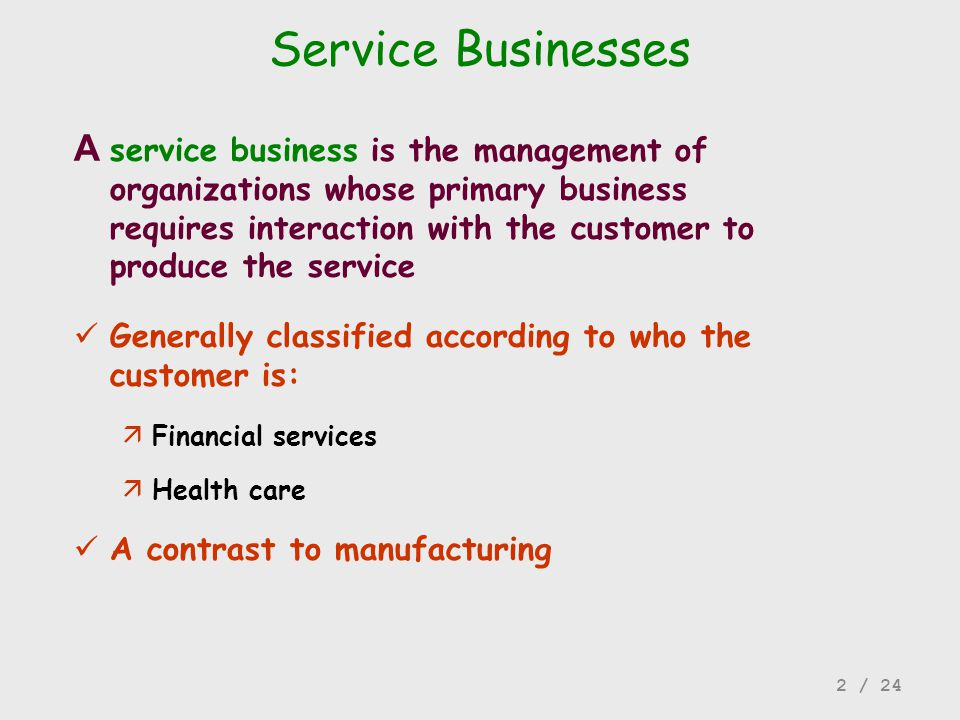 Service Businesses
