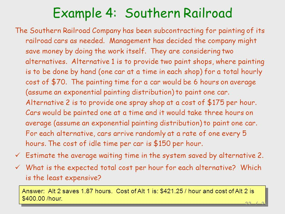 Example 4: Southern Railroad