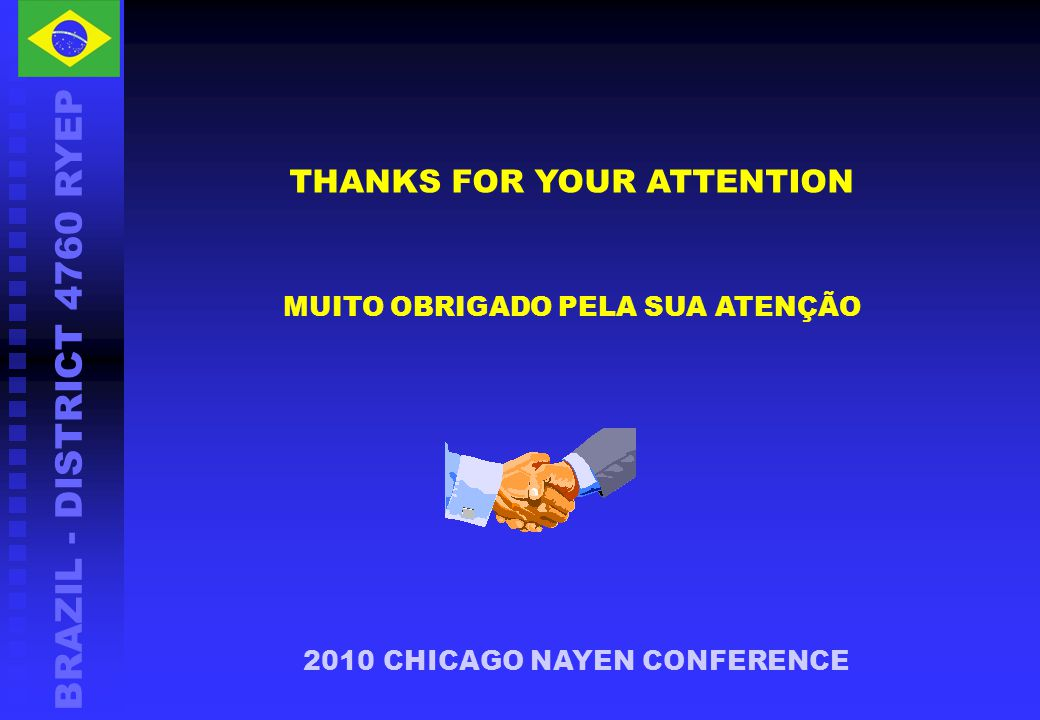 BRAZIL - DISTRICT 4760 RYEP THANKS FOR YOUR ATTENTION