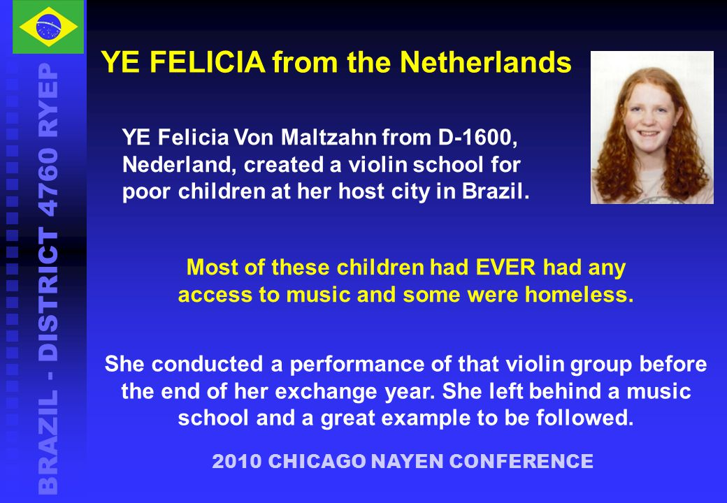 YE FELICIA from the Netherlands