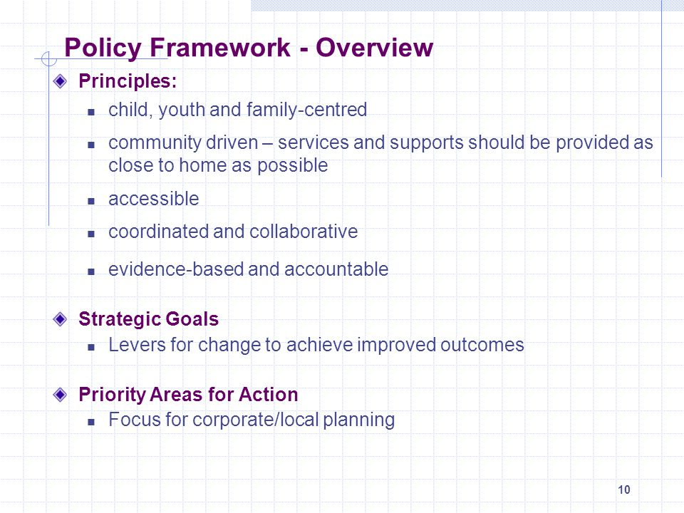 Policy Framework - Overview