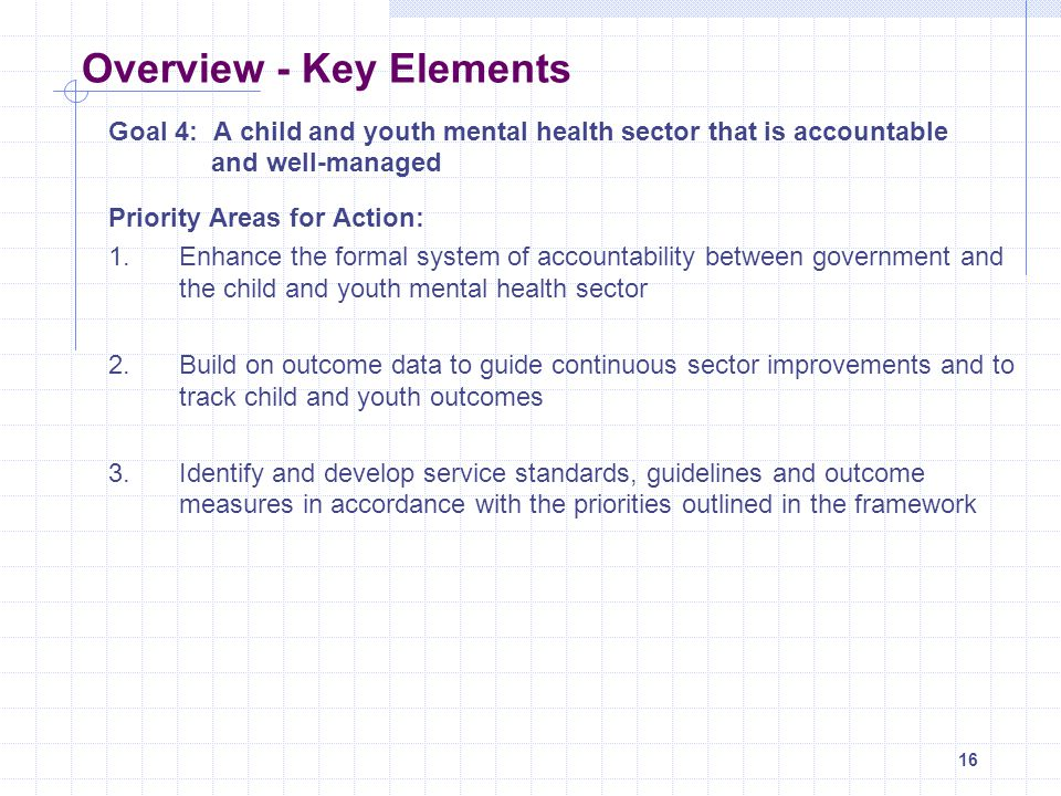 Overview - Key Elements
