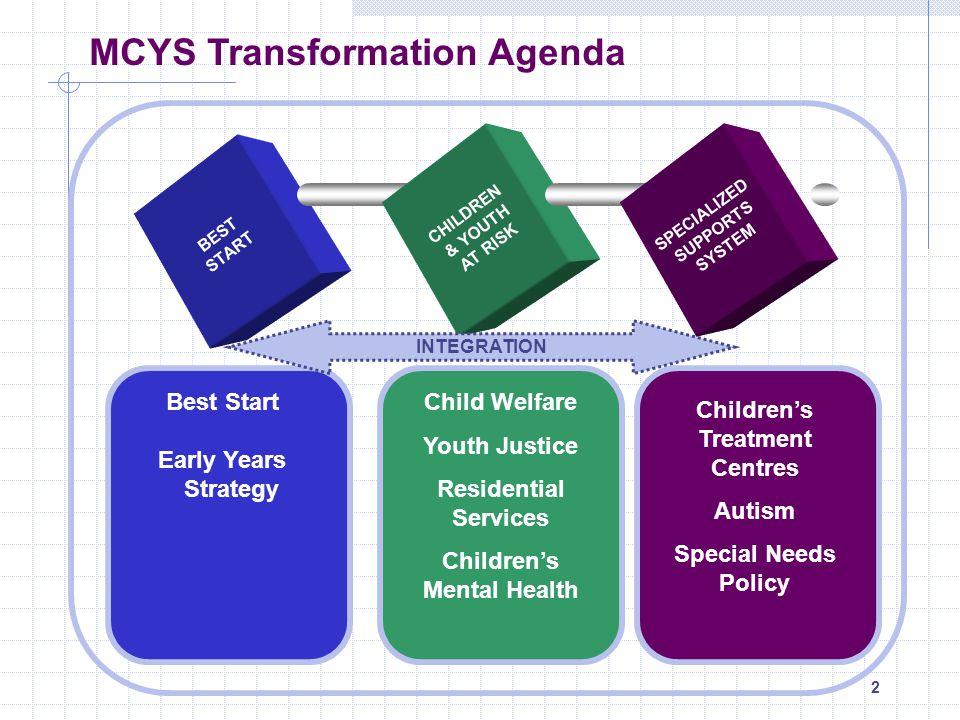 MCYS Transformation Agenda