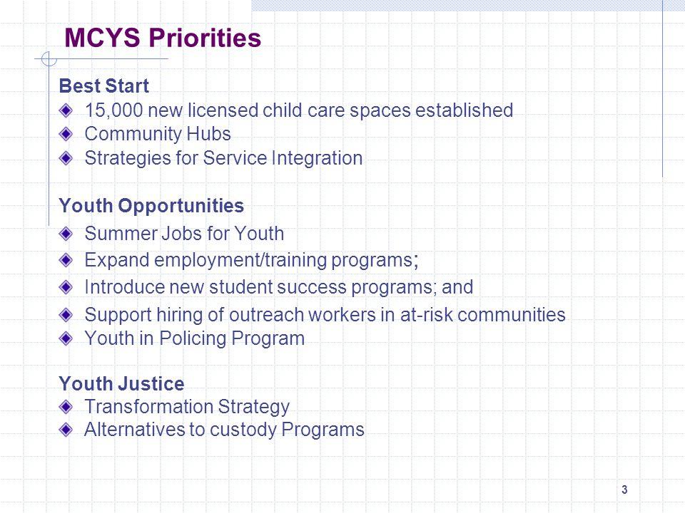 MCYS Priorities Best Start