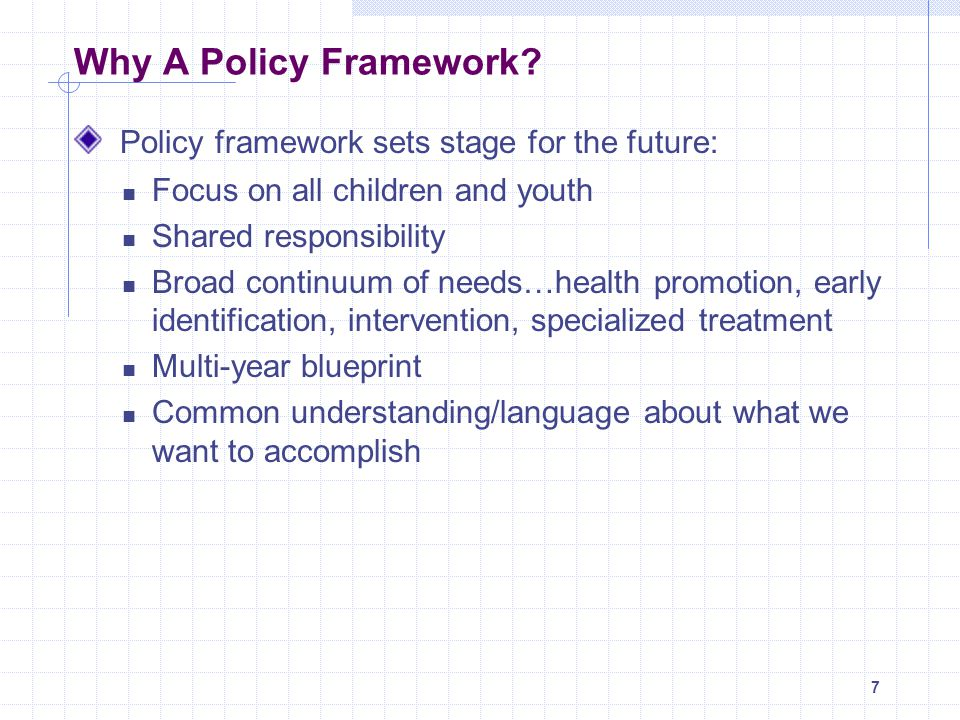 Policy framework sets stage for the future: