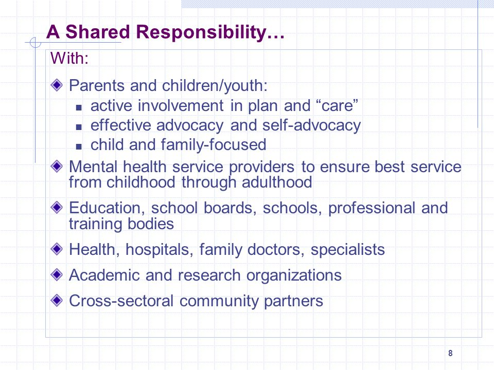 A Shared Responsibility…