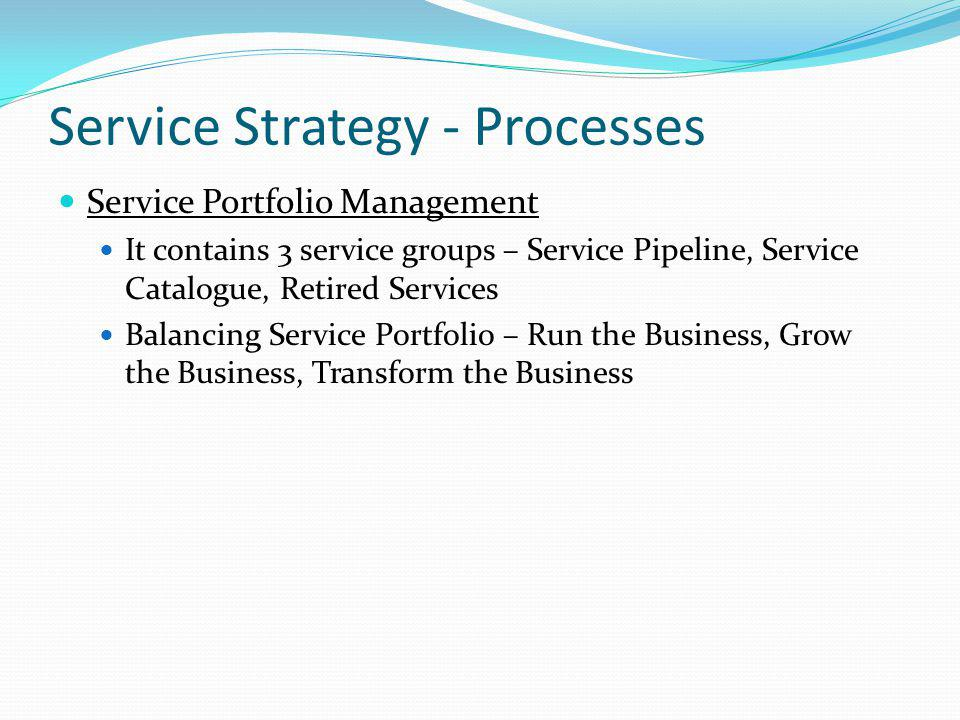 Service Strategy - Processes