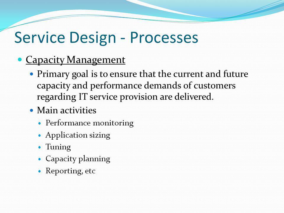 Service Design - Processes