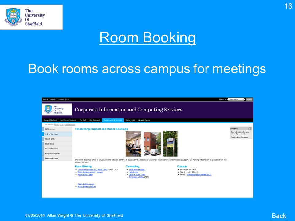 Book rooms across campus for meetings