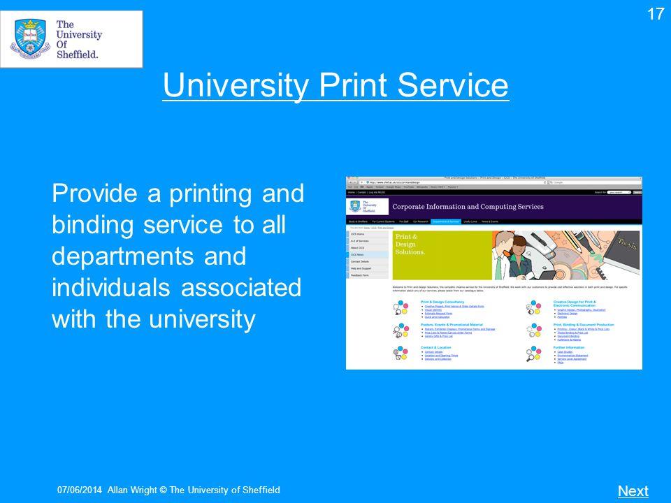 University Print Service