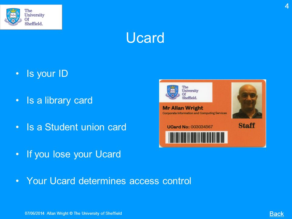 Ucard Is your ID Is a library card Is a Student union card