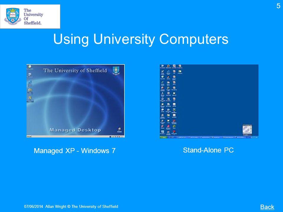Using University Computers