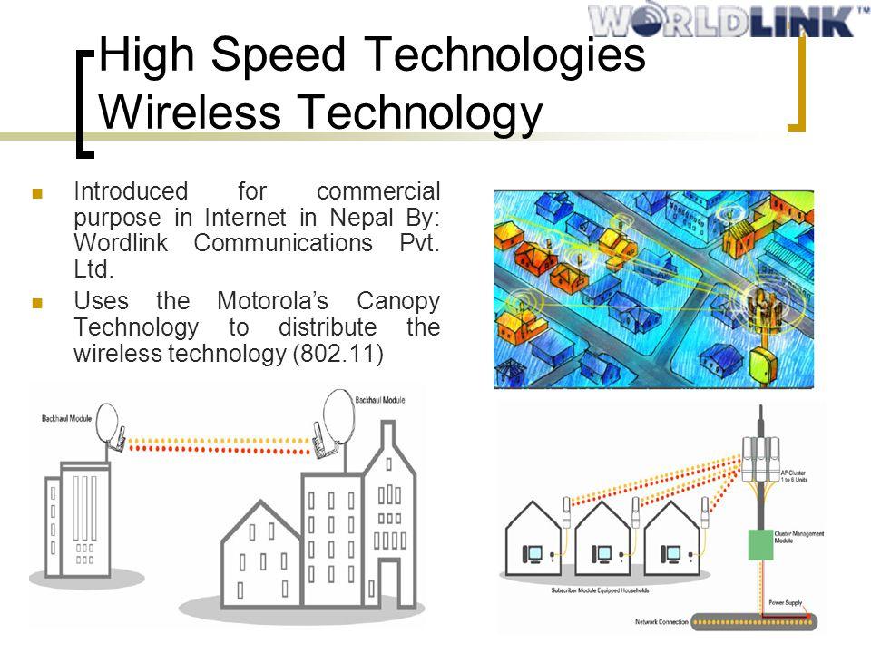 High Speed Technologies Wireless Technology