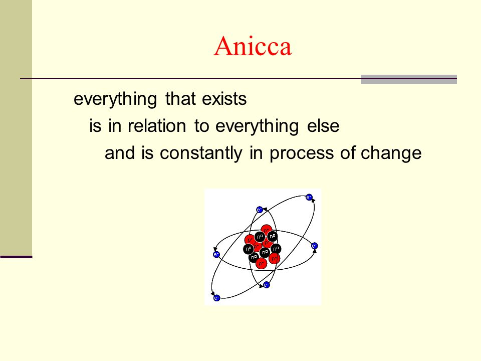 Anicca everything that exists is in relation to everything else