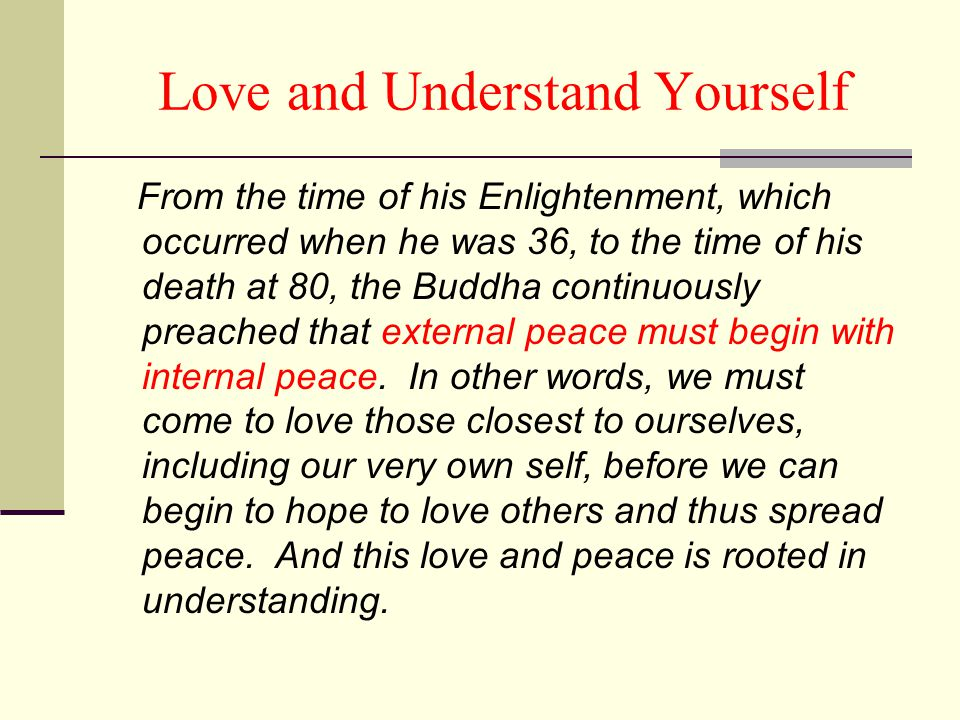 Love and Understand Yourself