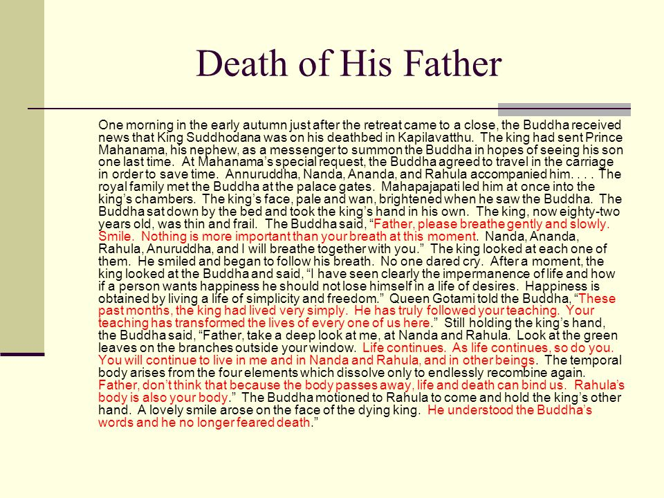 Death of His Father