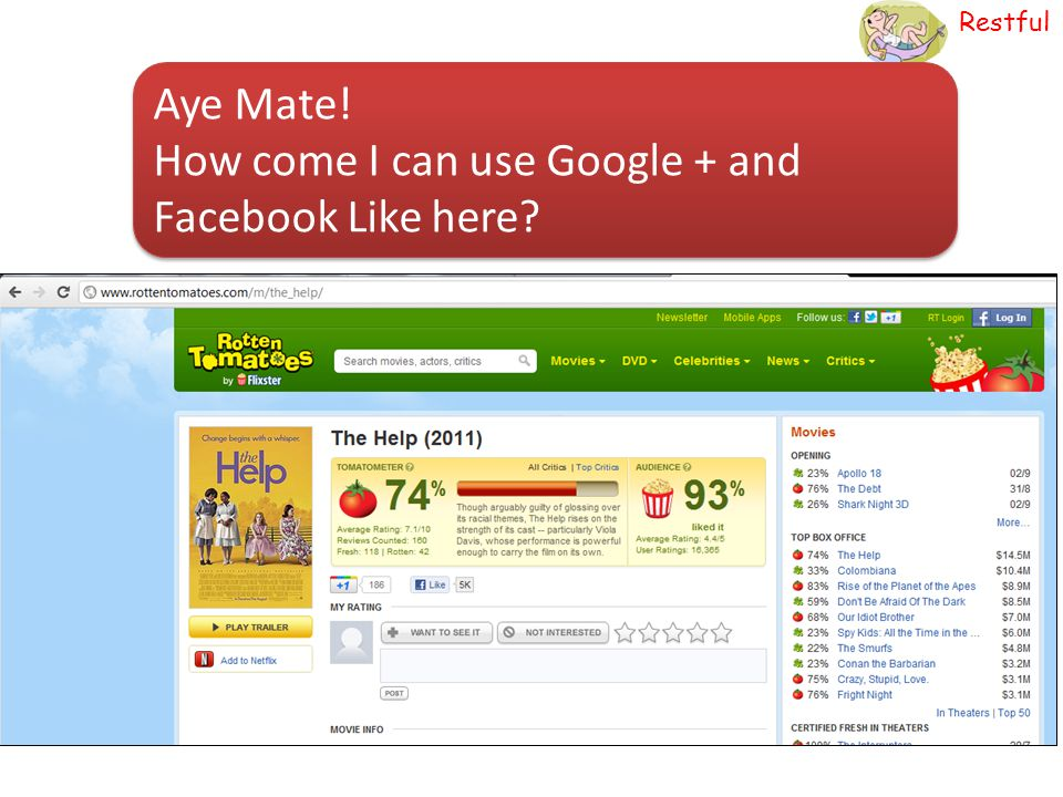Aye Mate! How come I can use Google + and Facebook Like here