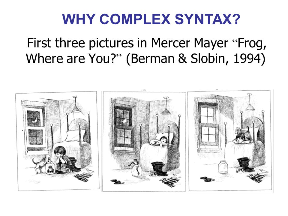 WHY COMPLEX SYNTAX.
