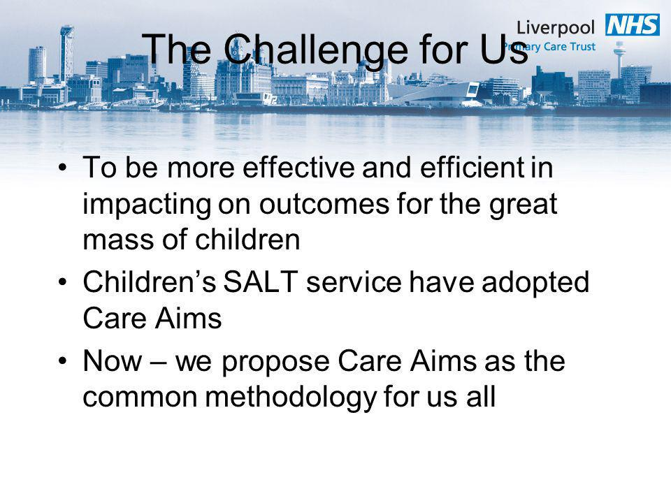 The Challenge for Us To be more effective and efficient in impacting on outcomes for the great mass of children.
