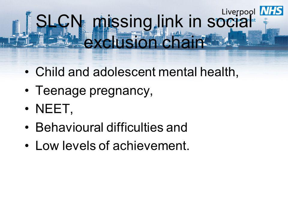 SLCN missing link in social exclusion chain
