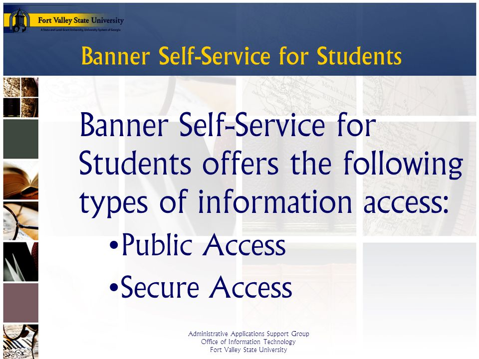 Banner Self-Service for Students