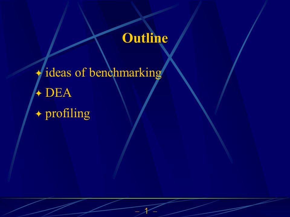 Outline ideas of benchmarking DEA profiling