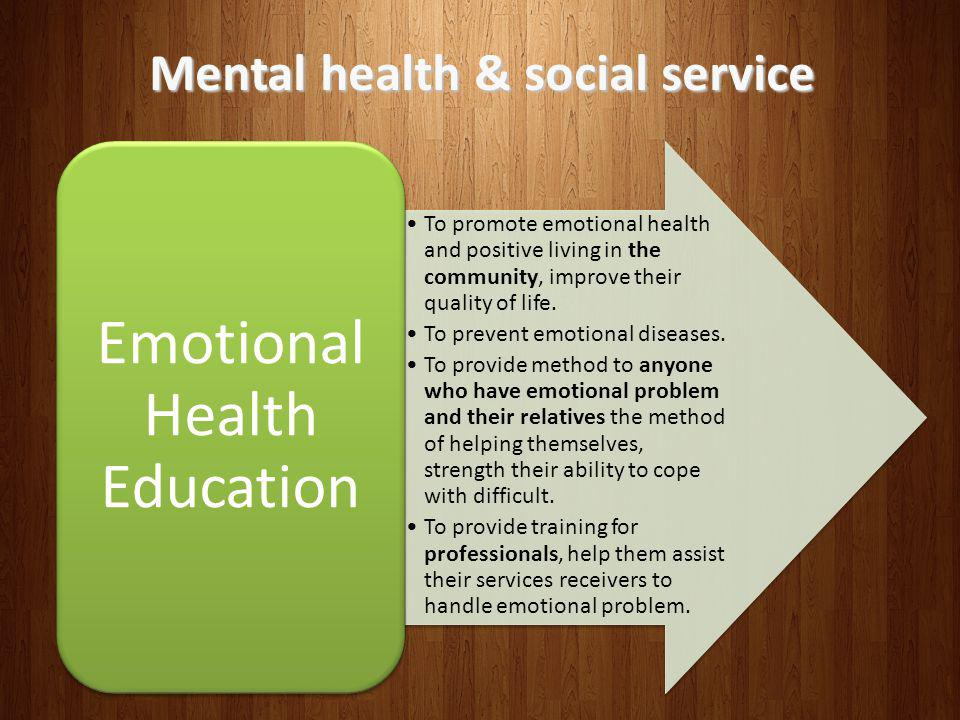 Mental health & social service
