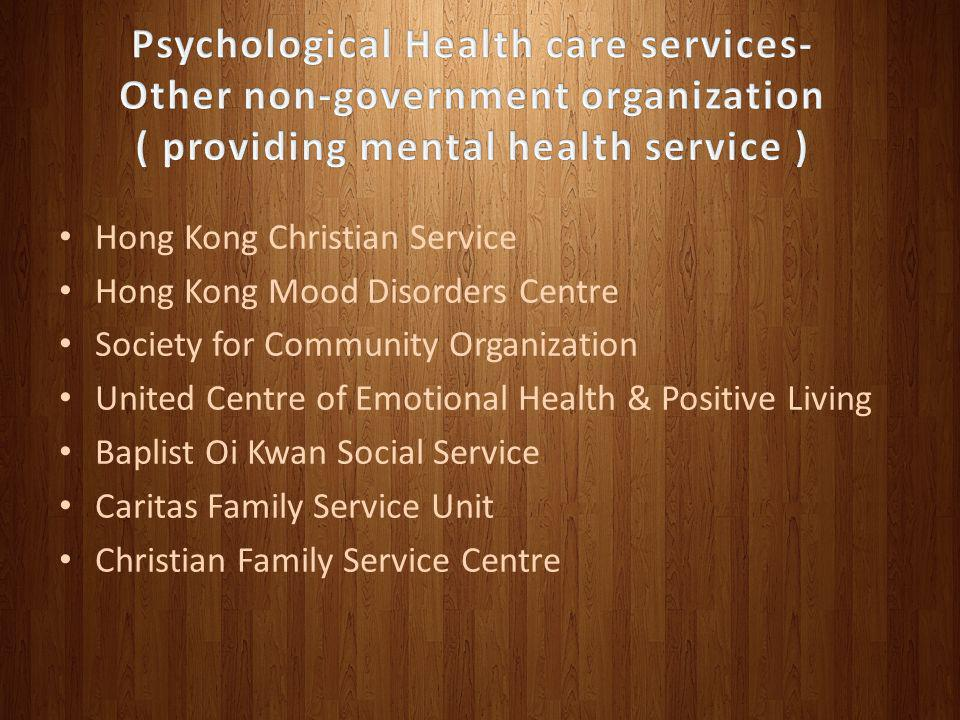 Psychological Health care services- Other non-government organization