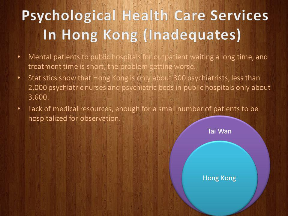 Psychological Health Care Services In Hong Kong (Inadequates)
