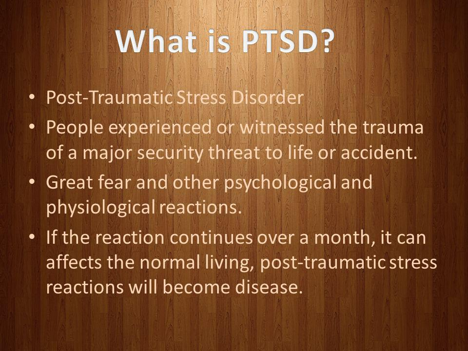What is PTSD Post-Traumatic Stress Disorder