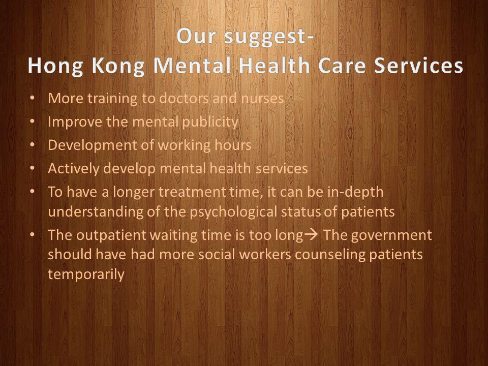 Hong Kong Mental Health Care Services