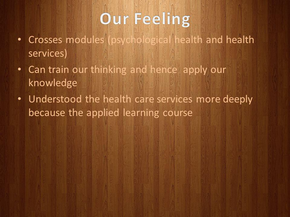 Our Feeling Crosses modules (psychological health and health services)