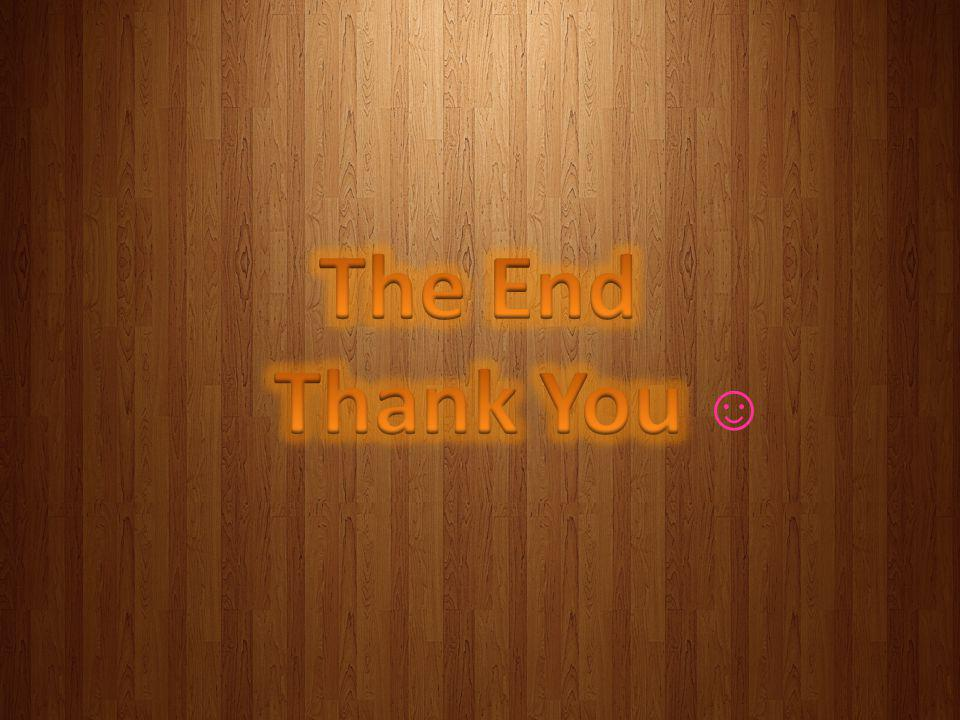 The End Thank You ☺