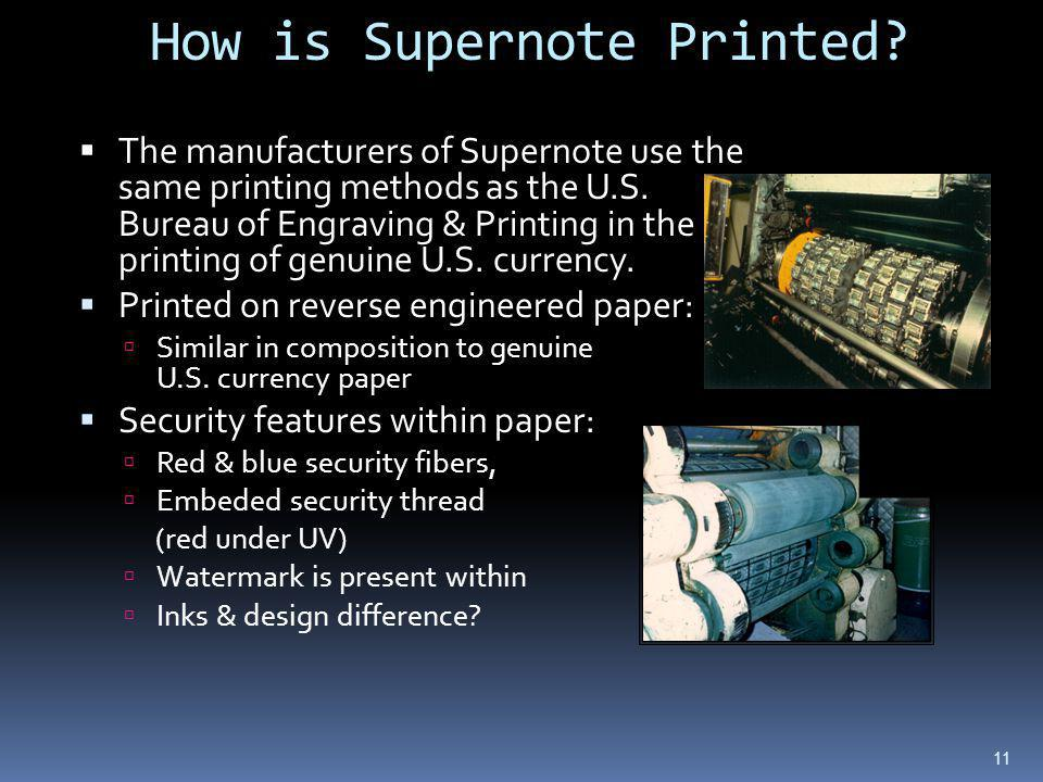 How is Supernote Printed