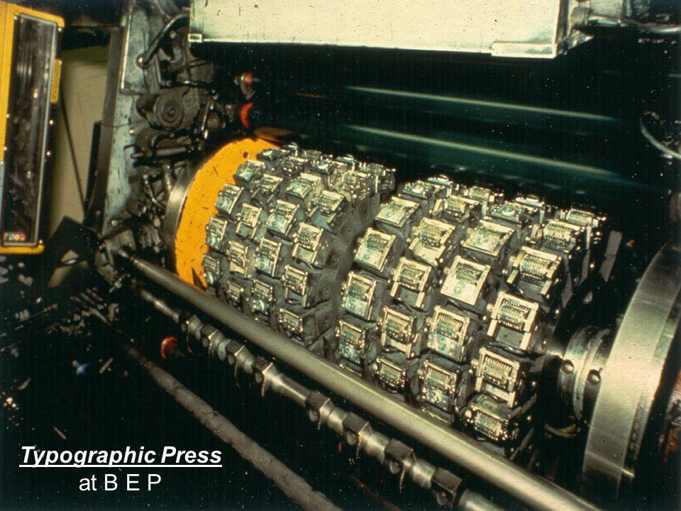 Typographic Press at B E P