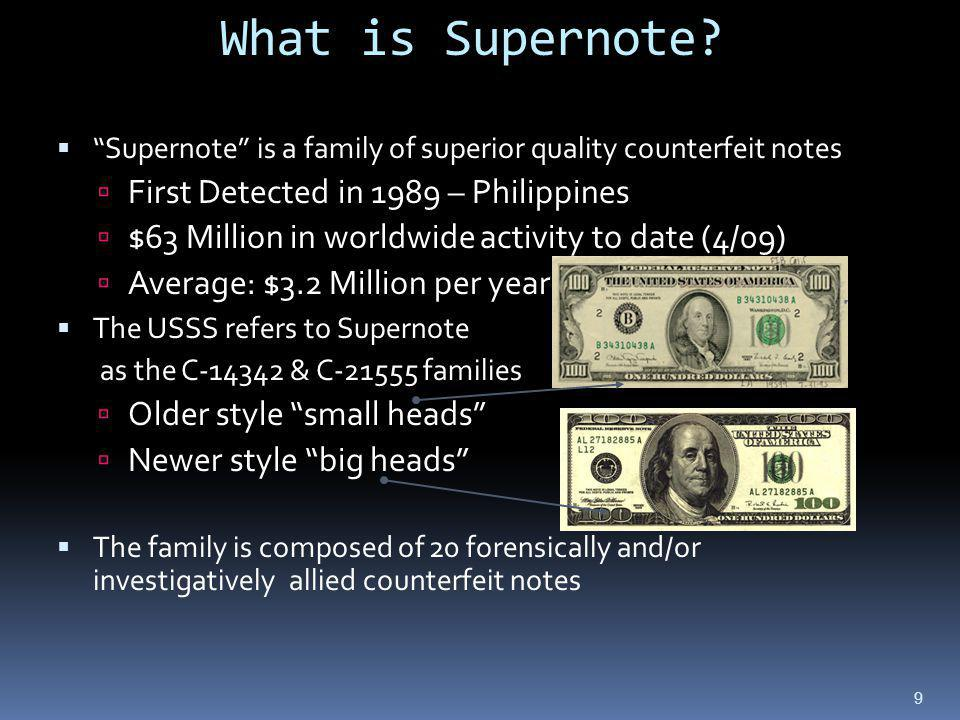 What is Supernote First Detected in 1989 – Philippines