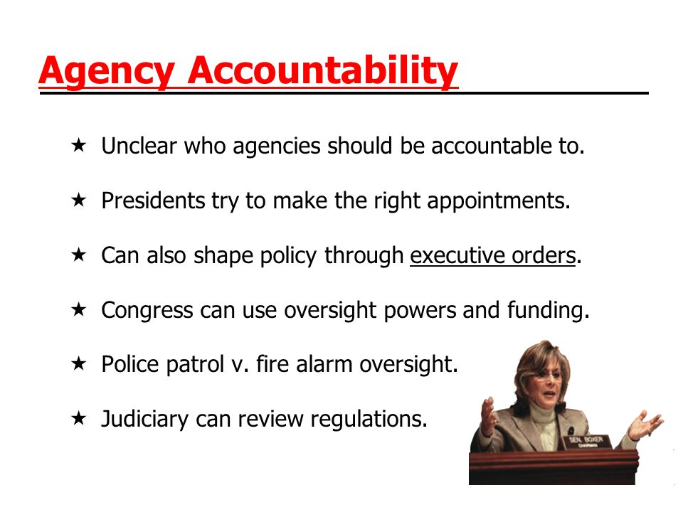 Agency Accountability