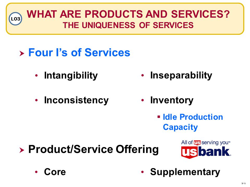 WHAT ARE PRODUCTS AND SERVICES THE UNIQUENESS OF SERVICES