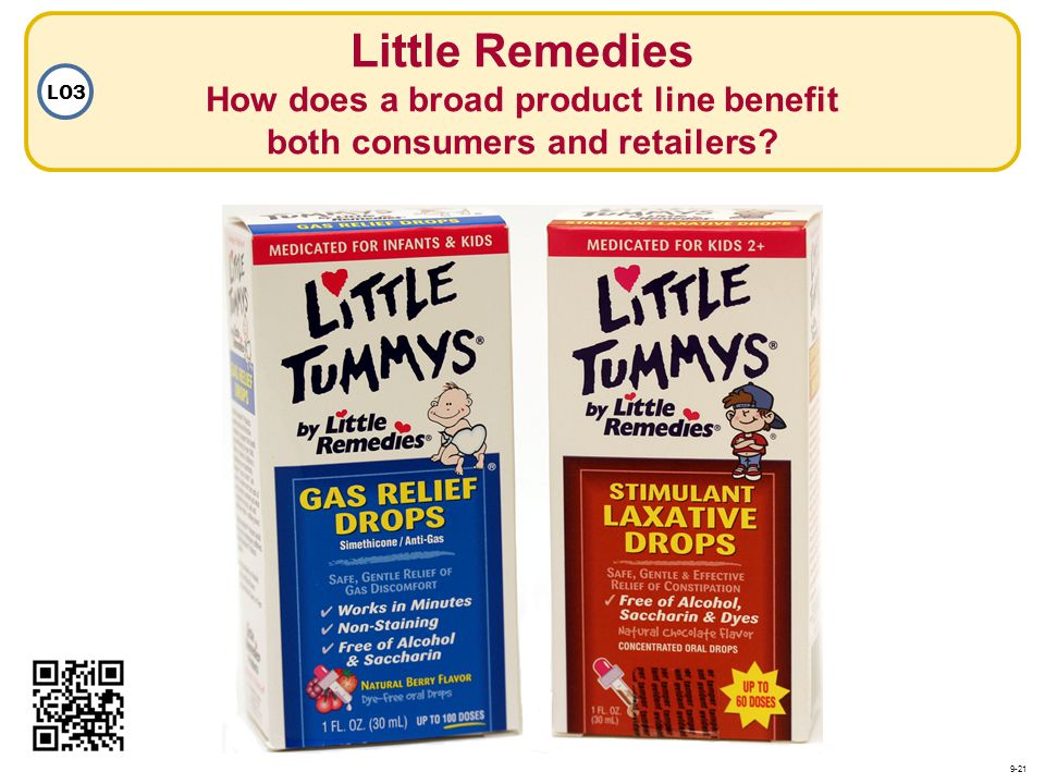 Little Remedies How does a broad product line benefit both consumers and retailers