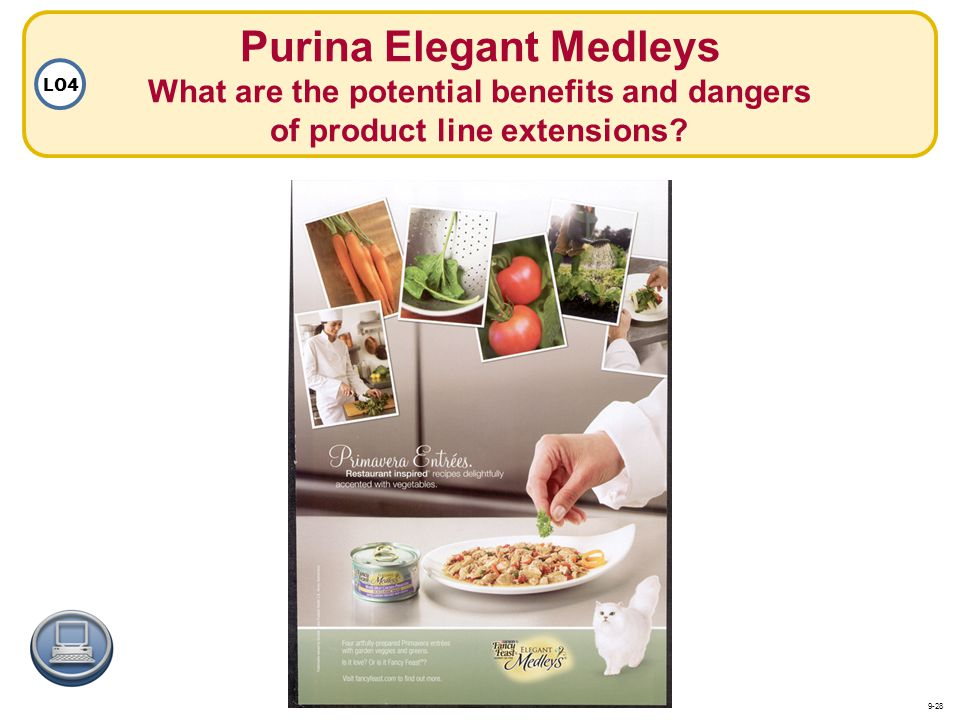 Purina Elegant Medleys What are the potential benefits and dangers of product line extensions